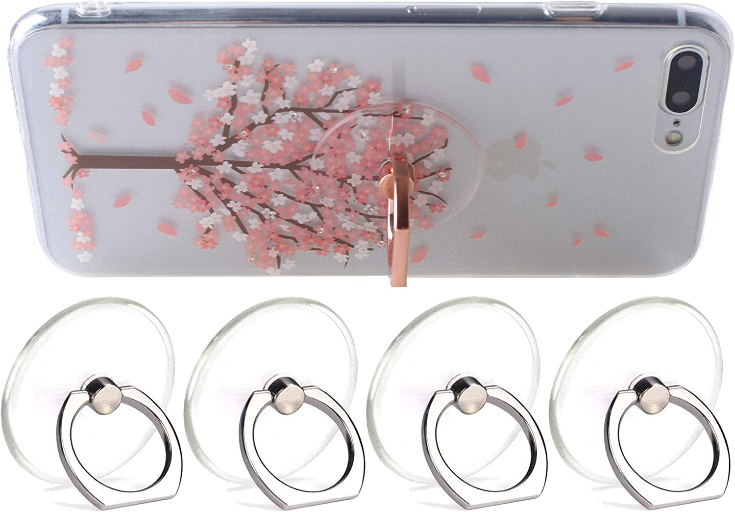 ARASO Transparent Cellphone Ring Recommended Holder - Stand Degree Rotat 360 Courier shipping free shipping