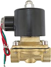 1/2 inch 220V-240V AC VAC Brass Electric Solenoid Valve NPT Gas Water Air NC N/C