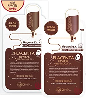 Placenta Revital Essential Mask EX. 25ml Pack of 10