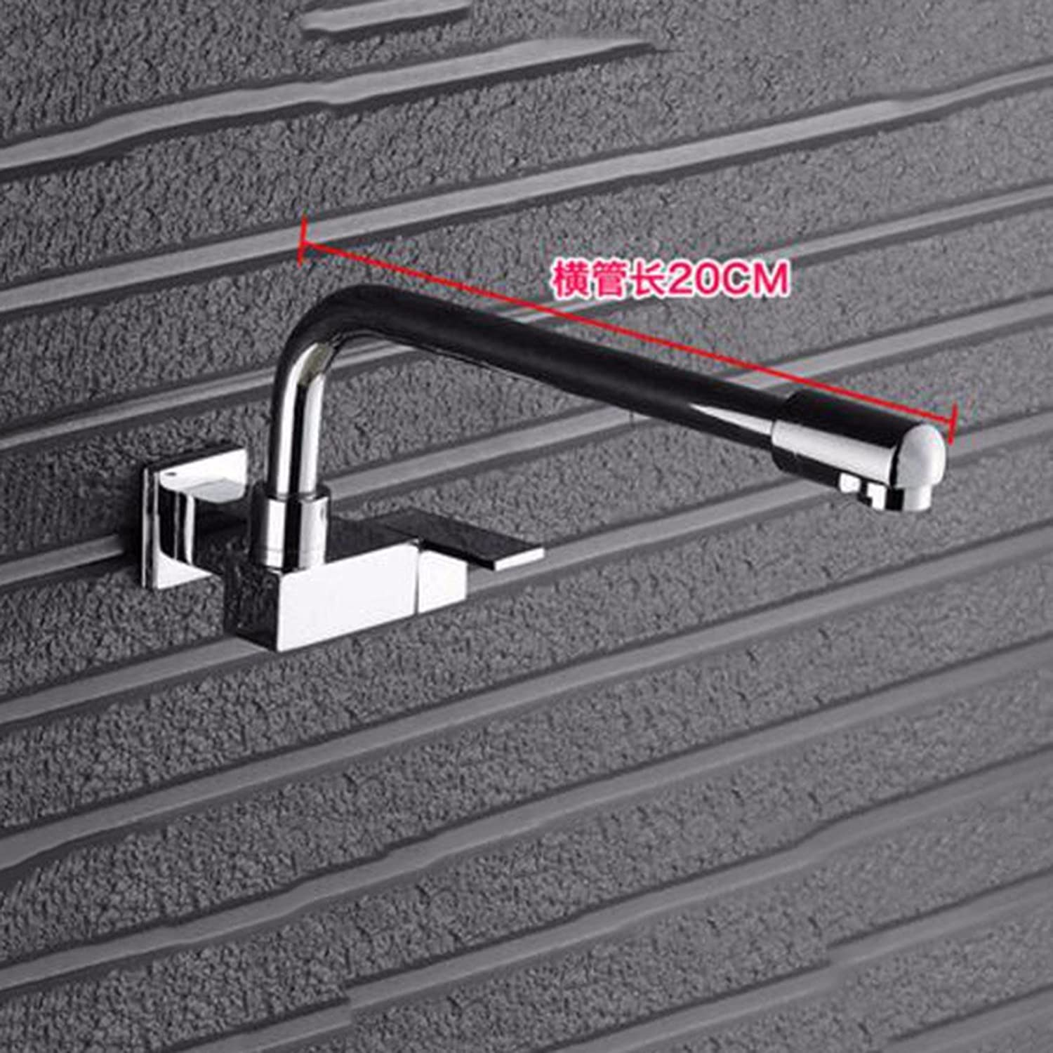 Lengthened Tap Mop Pool Into The Wall Single Balcony Washing Pool Mop Pool Kitchen Vegetable Washing Basin Faucet Wall Type,C