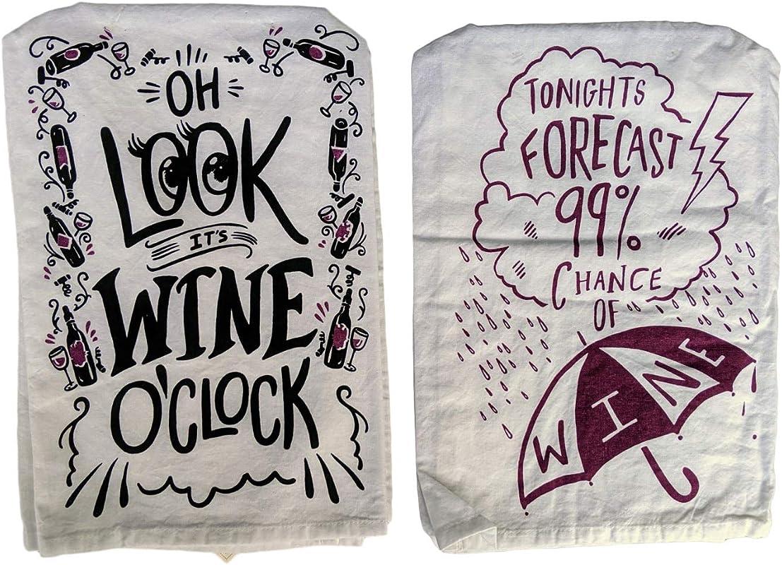 JJFerrigno Wine Lovers Dish Towel Set C Bundle Includes 2 Towels 28