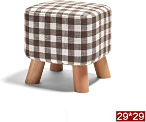 LIN-rlp Stool Change Shoes Sofa Fashion Shoes Low Creative Small Bench Simple Modern Soft Fabric