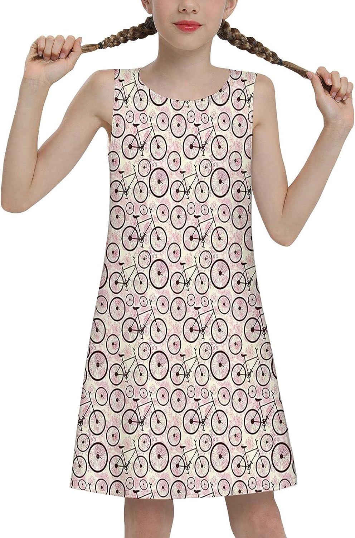 Gyapuk Girls Sleeveless Summer Casual Swing Dresses