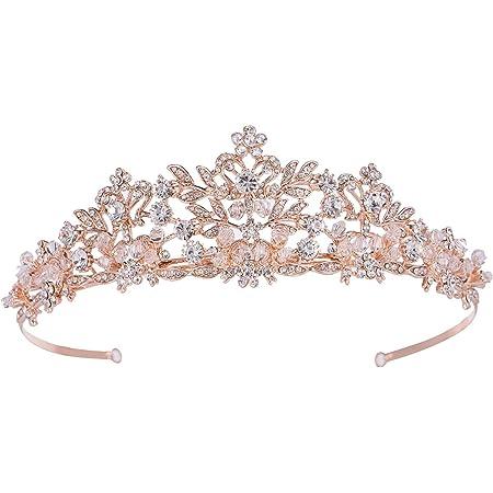 2019 New Fashion Wedding Crystal Pearl Crowns Rhinestone Tiara Brides HairR/_CH