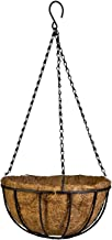 Kingbuy Hanging Basket Planter Metal with Coconut Coir Liner Wire Plant Holder with Garden Decorations for Porch Pots Hanger Home Garden Decoration Indoor Outdoor Watering Plant Flower Pot-8inch