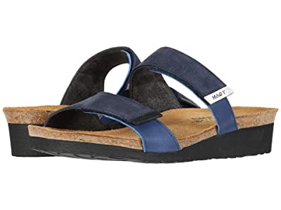 Naot Jacey Wide (Navy Velvet Nubuck/Oily Blue Leather/Oily Coal Nubuck) Women
