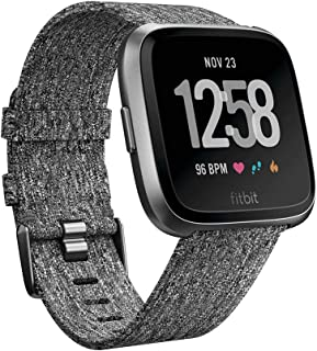 Fitbit Unisex Akıllı Saat Versa Ekstra Kayış Hediyeli, Kömür Grisi