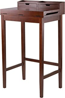 Winsome Brighton High Desk with 2-Drawer, Brown