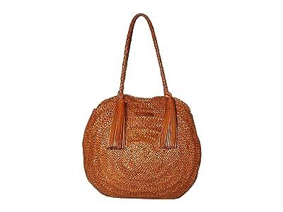 Loeffler Randall Leilani Woven Circle Shoulder Bag (Timber Brown) Handbags