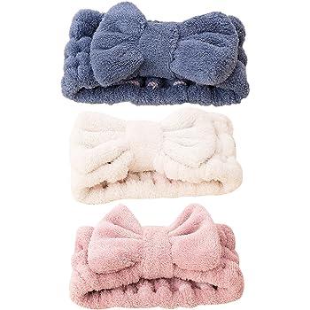 FRCOLOR - Fascia per capelli da donna elastica per il trucco del viso, trattamenti cosmetici e doccia, 3 pezzi