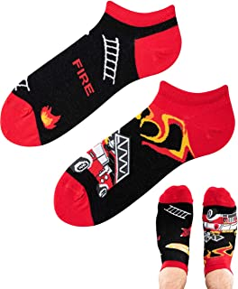 TODO Colours - Calcetines deportivos con diseño de bombero bajo fuego, unisex, multicolor