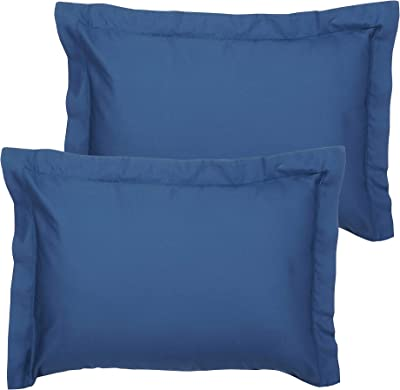 Infinite Weaves Standard Size Pillowcase Set Of 2 300 Thread Count 100 Cotton Silky Soft Long Staple Sateen Weave Pillow Covers Only Luxurious Hypoallergenic Fade Resistant 2pc Standard Blue Kitchen