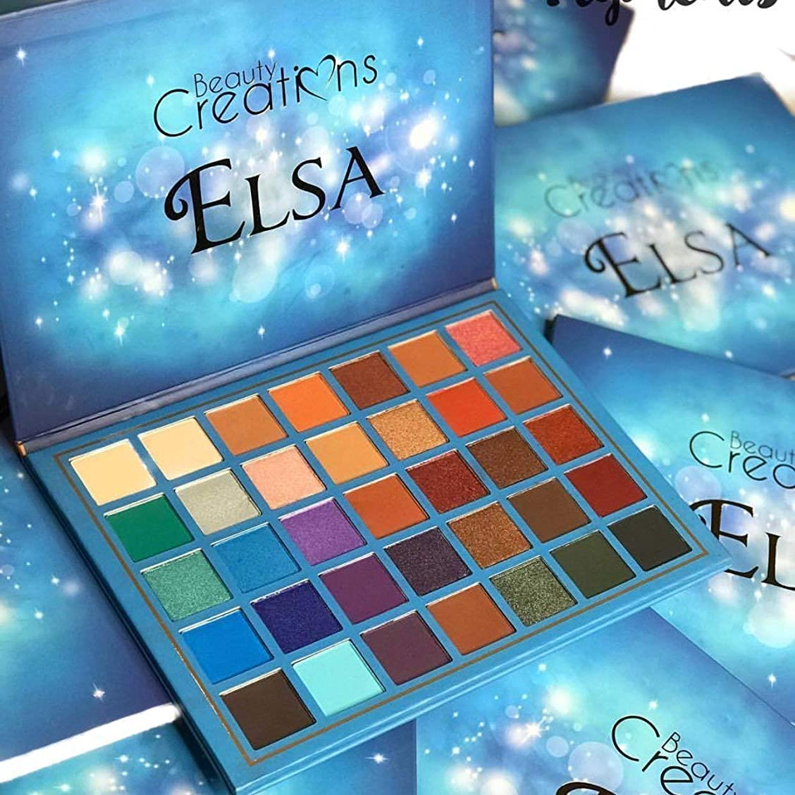 エトナ山フェードアウト挨拶するElsa 35 Color Elsa Eyeshadow Palette By Beauty Creation