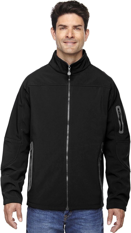North End Mens Soft Shell Technical Jacket (88138) -BLACK 703 -5XL