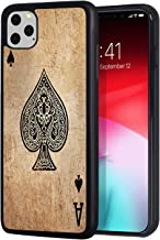 Google Pixel 4 Case, Slim Impact Resistant Shock-Absorption Rubber Protective Case Cover for Google Pixel 4 (2019) - Ace of Spades Card