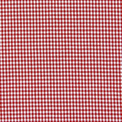 Baumwollstoff Vichy 0,2 cm – signalrot — Meterware ab 0,5m — STANDARD 100 by OEKO-TEX® Produktklasse I — zum Nähen von Kissen/Tagesdecken, Tischdekoration & Freizeitkleidung