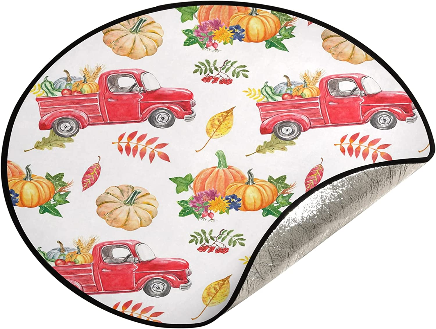 JUMBEAR Thanksgiving Inventory cleanup selling sale Pumpkins Tree Mat Oklahoma City Mall Stand Christma Waterproof