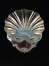 Plato con forma de concha marina chapado en plata C.S.