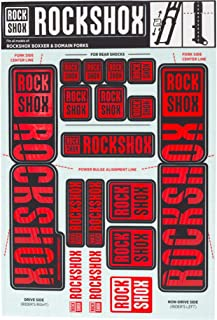RockShox Decal Kit 35mm Dual Crown Red