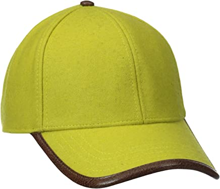 dccf8dfe5ba9aa Diego Hat Company Men's Wool Cap with Faux Leather On The Brim Edge Trim San  npbdwh3138-Sporting goods