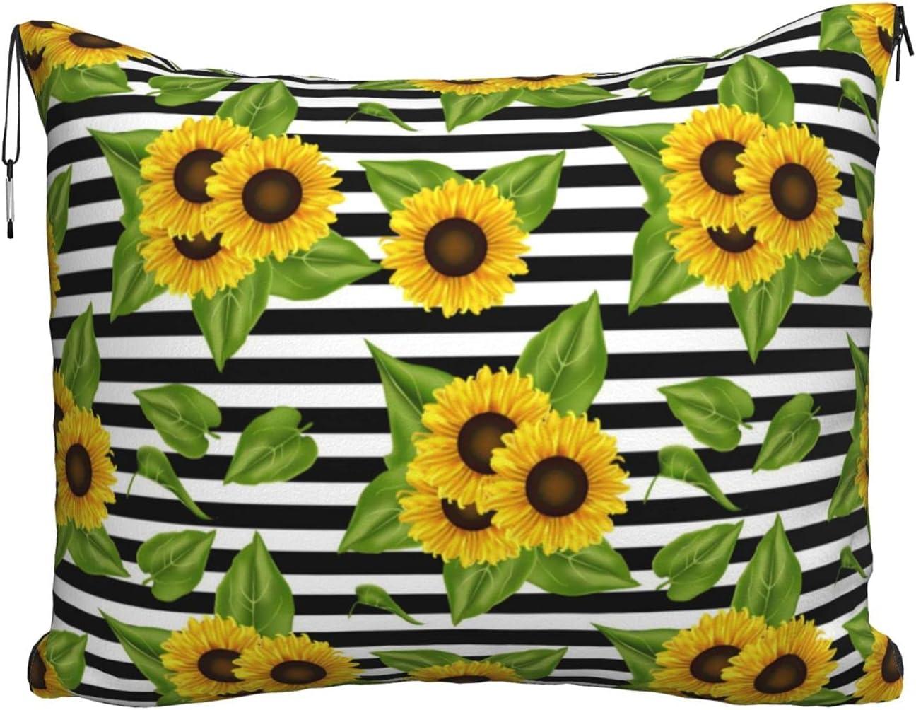Sunflower Premium Popular standard Max 48% OFF Soft Travel Blanket Airplane Ca Combo