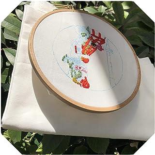 キットクロスステッチ|キット手刺繍、初心者のための植物刺繍キット、モダン刺繍キット、手刺繍キット、ミニ植物刺繍-1-