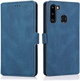 MOONCASE Galaxy A21 (EU) Case, Flip Leather Magnetic Wallet Phone Case With Card Slot Pocket and Foldable Stand Protective...