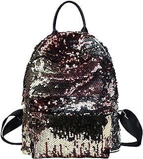 Tinksky Bling Sequins Paillette Backpack Casual Outdoor Sport Hiking Daypacks Christmas Birthday Gift for women Girls (Golden)