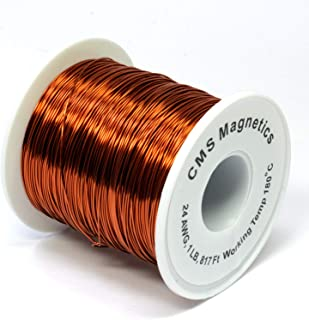 One Pound of 24 Gauge Magnet Wire for Science Projects | Copper Wire Enameled Temperature Rated 356 F School and Lab Experiment
