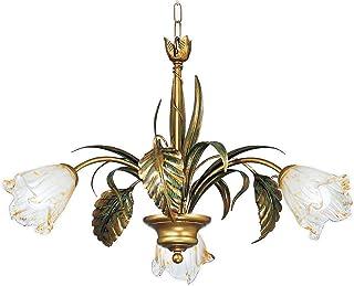 LAMPADARIO fatto a mano in stile floreale