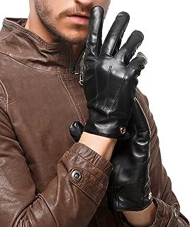 Nappaglo uomini veri touchscreen nappa, guanti di pelle guidando inverno caldo