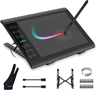 XOPPOX Graphics Drawing Tablet 10 x 6 Inch Large Active Area with 8192 Levels Battery-Free Pen and 12 Hot Keys, Compatible...