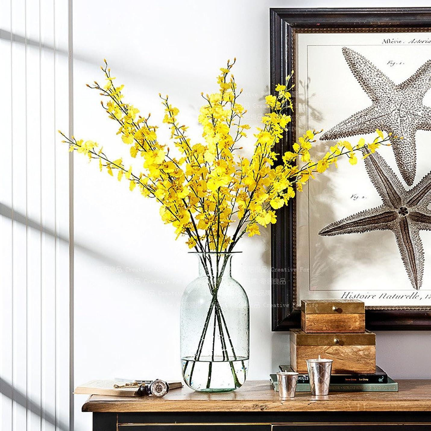 汚染広まったマニュアル人工的な結婚式の装飾のためのシミュレーションのOncidiumの蘭の胡蝶蘭の花