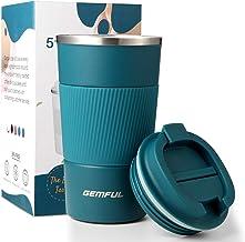 كوب قهوة/ماء للسفر بسعة 18 اونصة، رائع للمشروبات المثلجة والمشروبات الساخنة (لون ازرق)