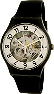 Swatch Archi-Mix Skeletor White Dial Silicone Strap Unisex Watch SUOB134
