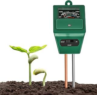 Xddias Bodentester, 3 in 1 Bodenmessgerät für Pflanzen, Boden Feuchtigkeit pH..