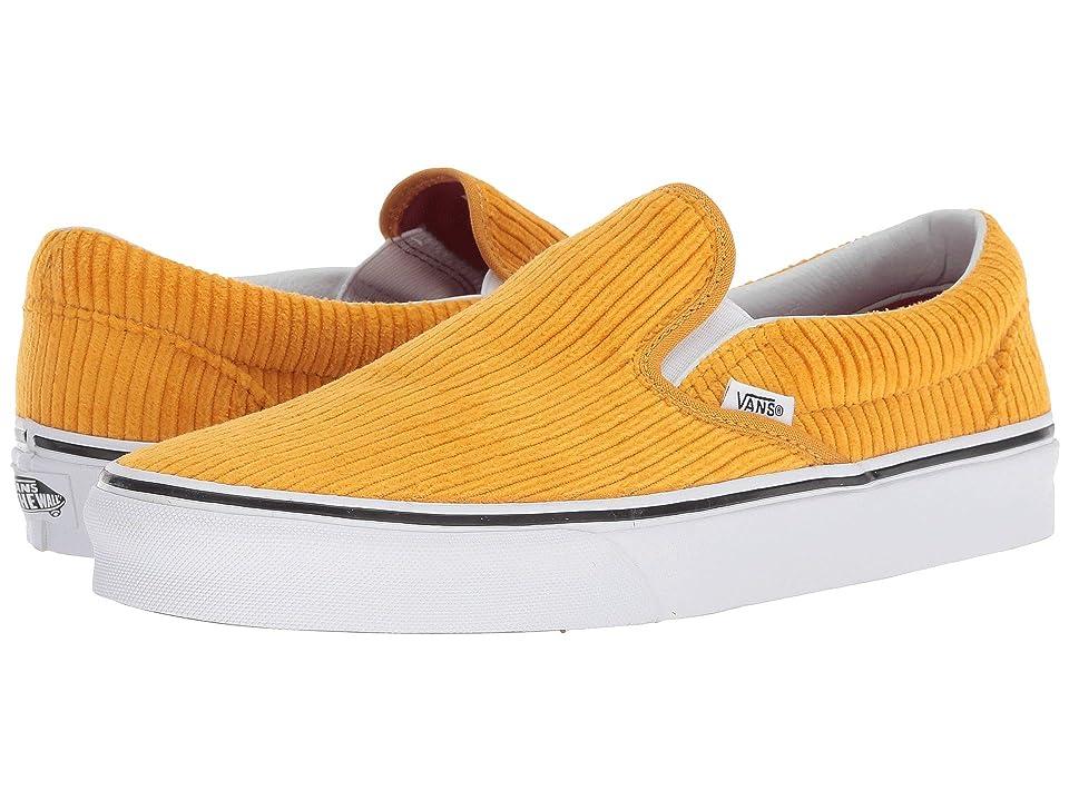 Vans Classic Slip-On ((Design Assembly) Sunflower/True White) Athletic Shoes
