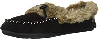 Acorn Women's Cozy Faux Fur Moc Slipper with memory foam and plush suede upper