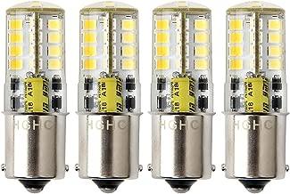 Bombilla LED BA15s 12V AC / DC 1156 1141 S8 base de contacto simple, bombilla resistente al agua, 5W blanco frío 6000K 500LM para barco, RV, automóvil, Iluminación del paisaje, etc. (4-Pack)