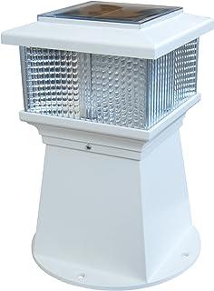 Dock Edge + Solar Piling Light , White