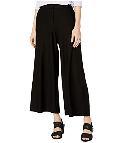 Eileen Fisher Lightweight Washable Stretch Crepe High-Waisted Ankle Pants (Black) Women