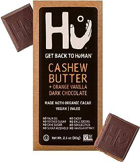 Hu Chocolate Bars   8 Pack Orange Dream Vanilla Cashew Butter Chocolate   Natural Organic Vegan, Gluten Free, Paleo, Non GMO, Fair Trade Dark Chocolate   2.1oz Each