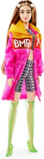 Barbie BMR1959 Fully Poseable Fashion Doll (Tall Brunette, 12.5-inch) Wearing Color Block Windbreaker, Bike Shorts and Vin...