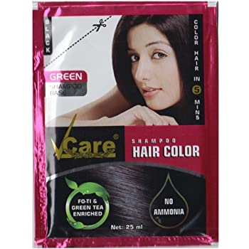 Buy Vcare Shampoo Hair Color Black 25ml Pack Of 3 Online At Low Prices In India Amazon In
