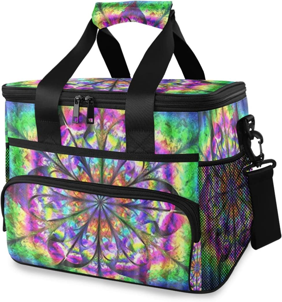 Sale price TropicalLife Cooler Lunch Max 77% OFF Bag Geometric Flower Insulated Mandala