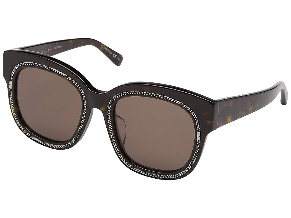 Stella McCartney SC0041SA (Avana/Avana/Brown) Fashion Sunglasses, Black