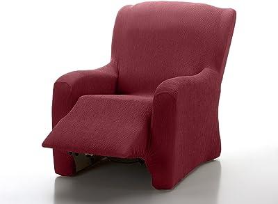 Textilhome - Copripoltrona Relax Reclinabile Marian Copridivano Elasticizzato, Taglia 1 Posti - 70 a 100Cm. Colour Rosso
