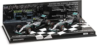 Formule 1 2 Car Set Mercedes AMG Petronas F1 Team W07 Hybrid Constructor World Champion 2016 - 1:43 - Minichamps