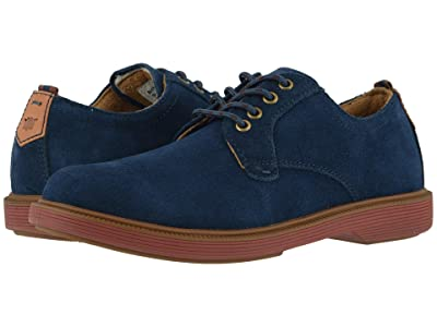 Florsheim Kids Supacush Plain Toe Ox, Jr. (Toddler/Little Kid/Big Kid) (Navy Suede/Brick Sole) Boy