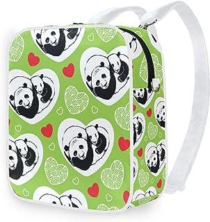 DEZIRO - Mochilas para la escuela, diseño de corazones de Pandas durmiendo